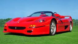 Rode Ferrari cabrio